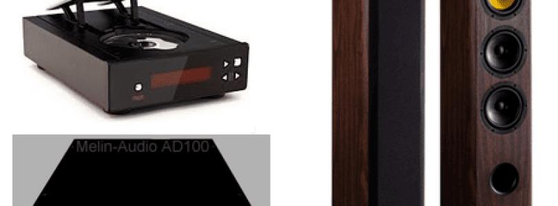 Lecteur CD Rega Apollo R – Amplificateur Melin Audio AD 100 – Enceintes colonnes Davis Matisse Série 30