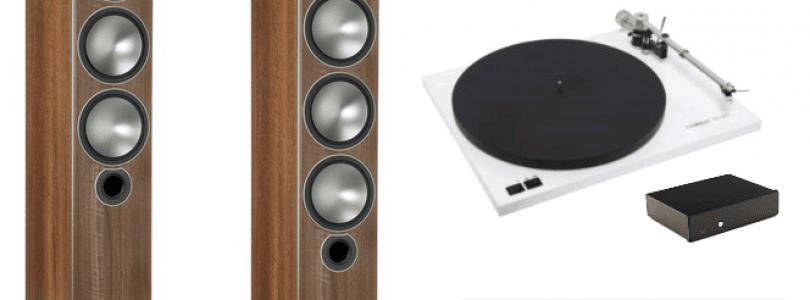 Thorens TD 203 – Ortofon 2M Blue – Rega Fono – Atoll IN 100 Signature – Monitor Audio Bronze 6