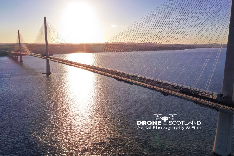 Drone Photography of the Queensferry Crossing, Scotland