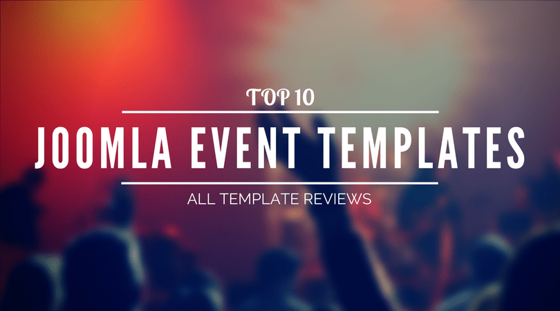 Joomla Event Templates