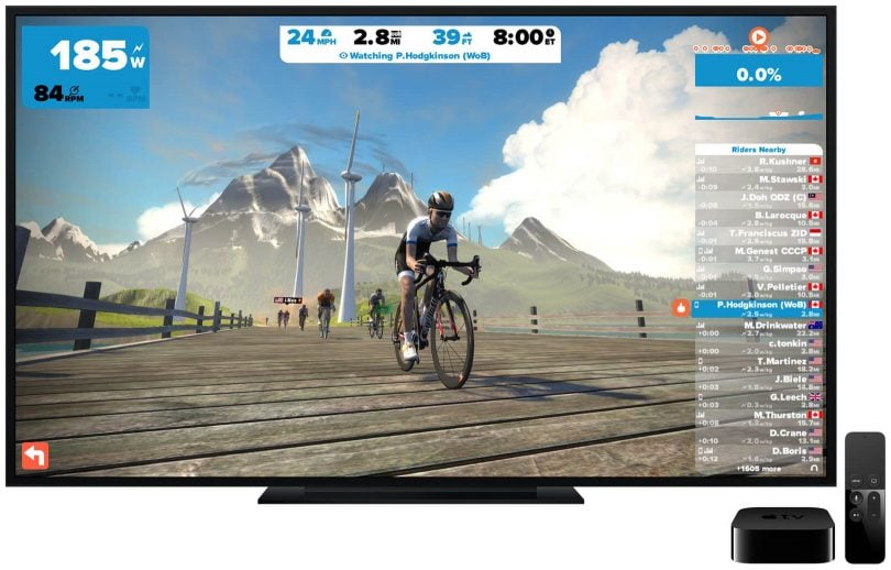 Could Apple TV Bring Home The Magic Of Zwift in 4K HDR