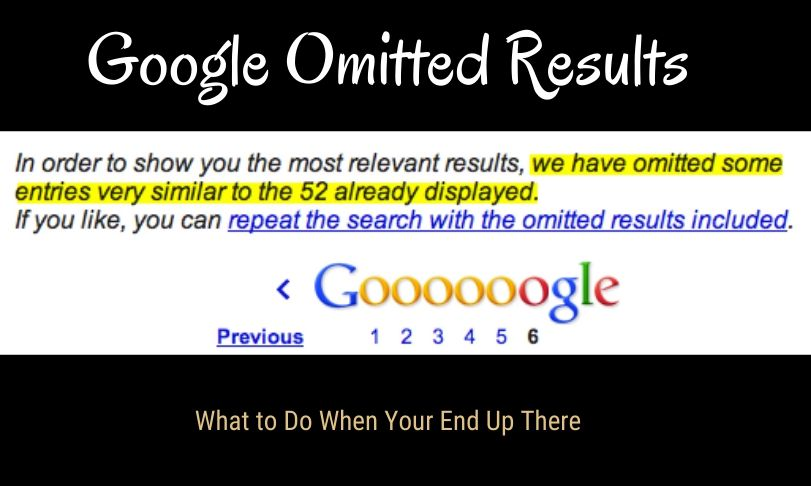 Google Omitted Results