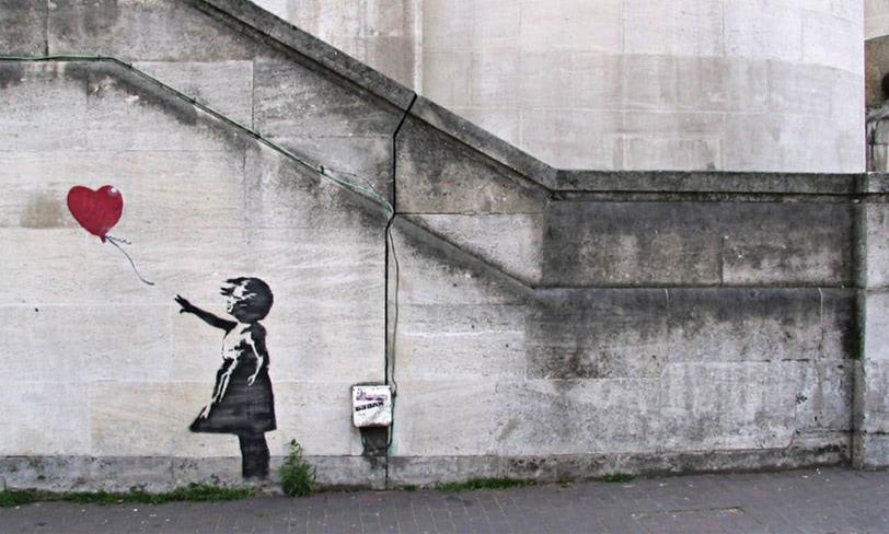 banksy dziewczynka zbalonikiem