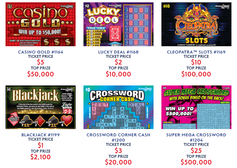Arizona Lottery scratchers