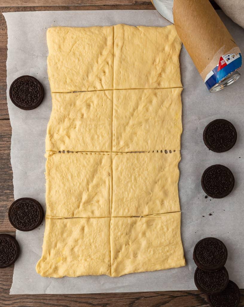 how to cut dough for air fried oreos