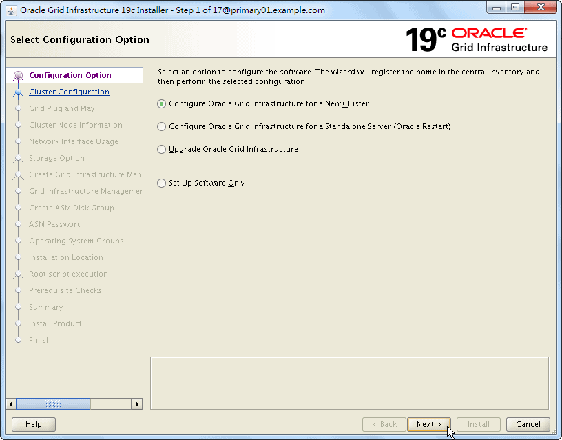 Oracle 19c Grid Infrastructure Installation - 01