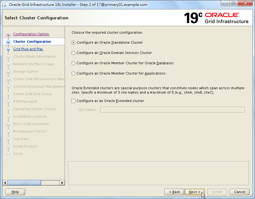 Oracle 19c Grid Infrastructure Installation - 02