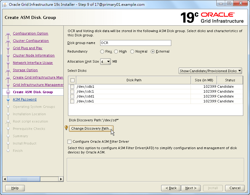 Oracle 19c Grid Infrastructure Installation - 09 - 01