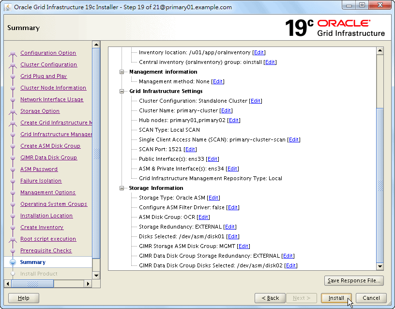 Oracle 19c Grid Infrastructure Installation - 19 - 03