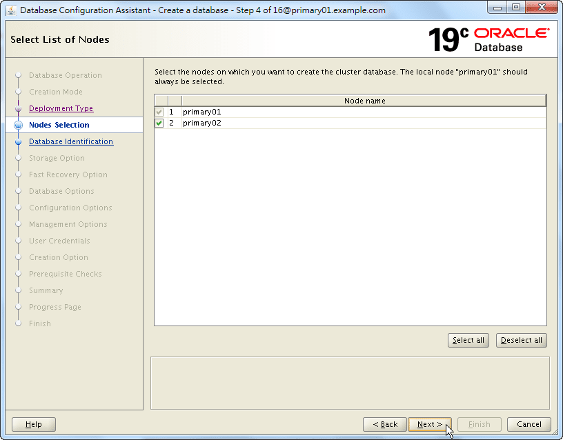 Oracle 19c Database Creation by DBCA - 04