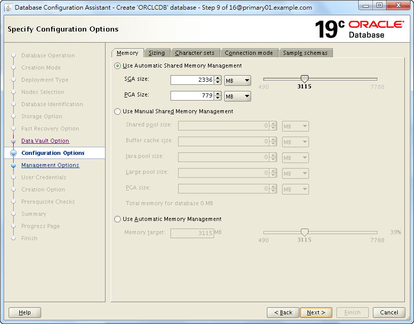 Oracle 19c Database Creation by DBCA - 09 - 01