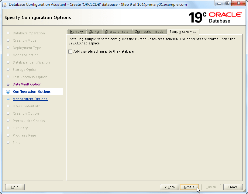 Oracle 19c Database Creation by DBCA - 09 - 05
