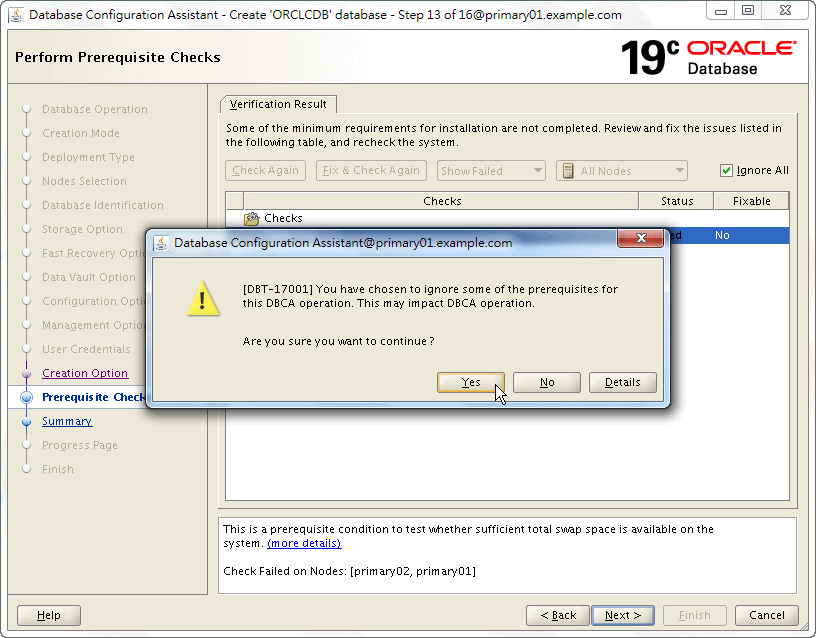 Oracle 19c Database Creation by DBCA - 13 - 03