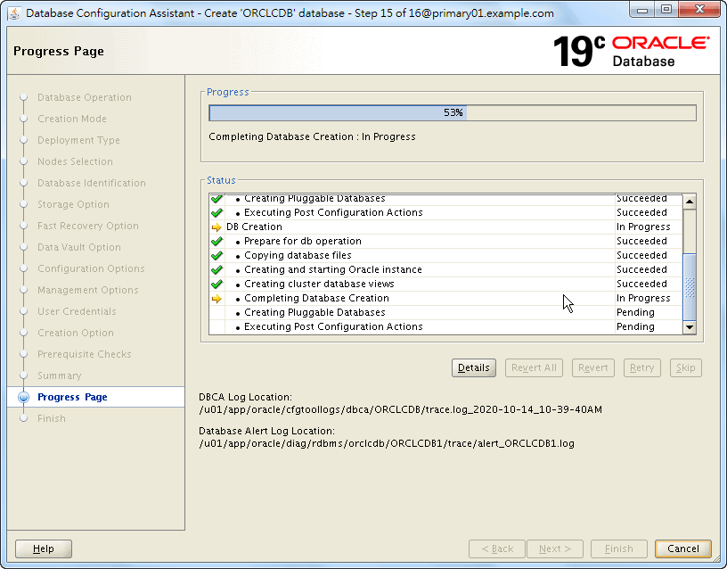 Oracle 19c Database Creation by DBCA - 15 - 02