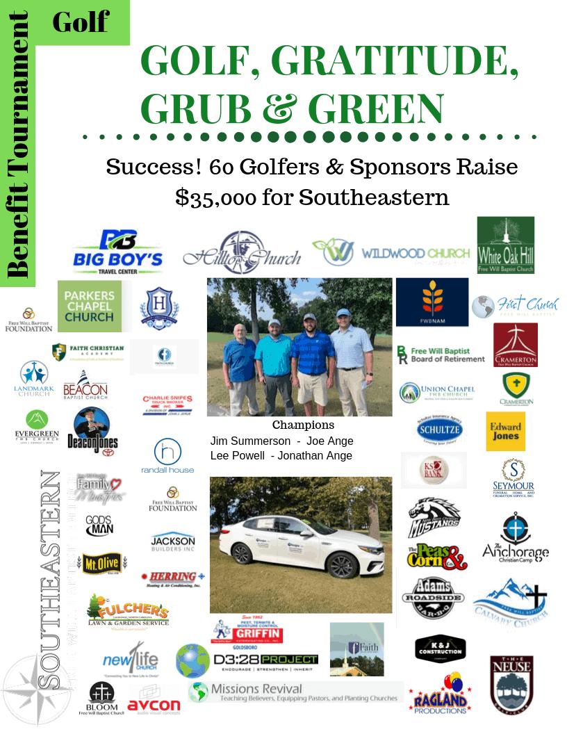 Golf, Gratitude, Grub & Green