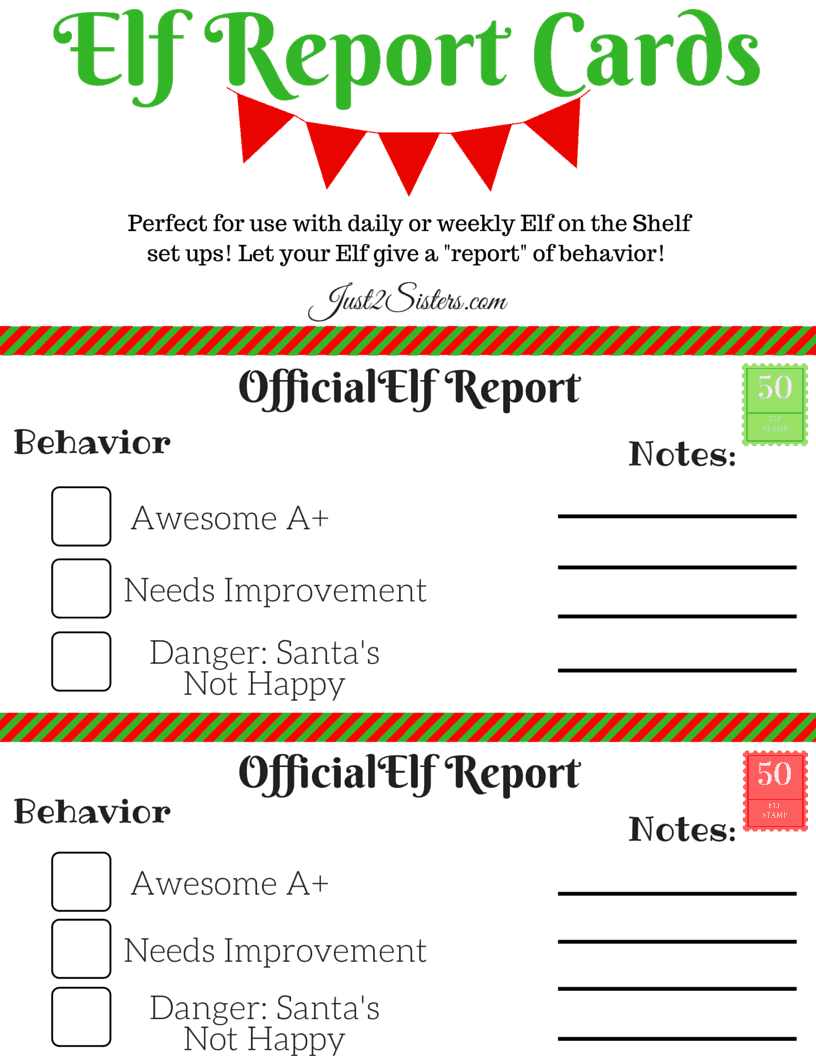 This Elf on the Shelf Report Card Printable is fun, easy, and keeps kids focused on kindness and good behavior during the holidays!