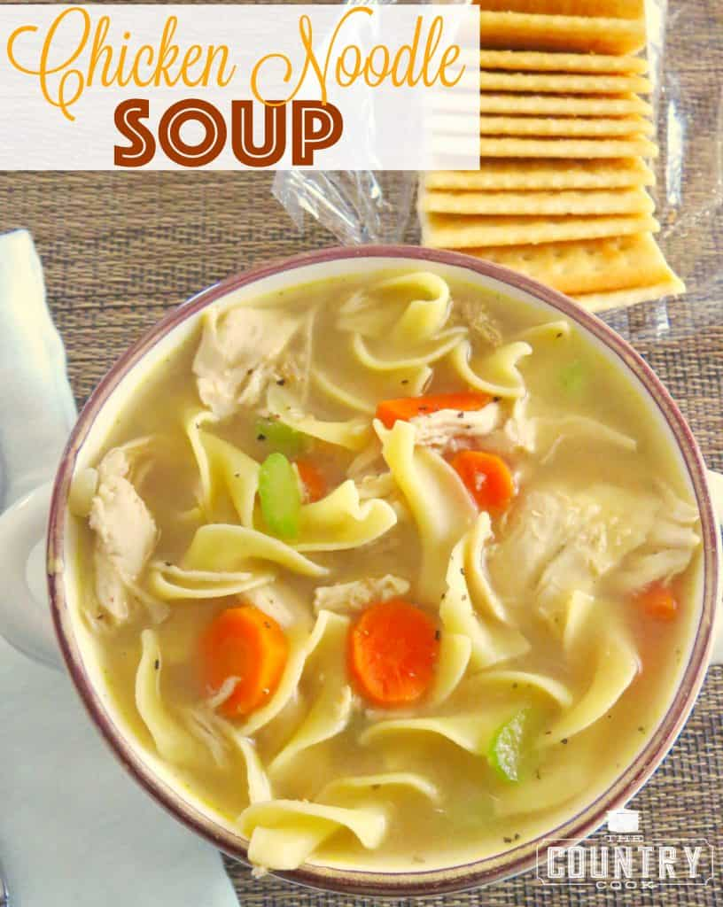 Easy Chicken Noodle Soup recipe from The Country Cook