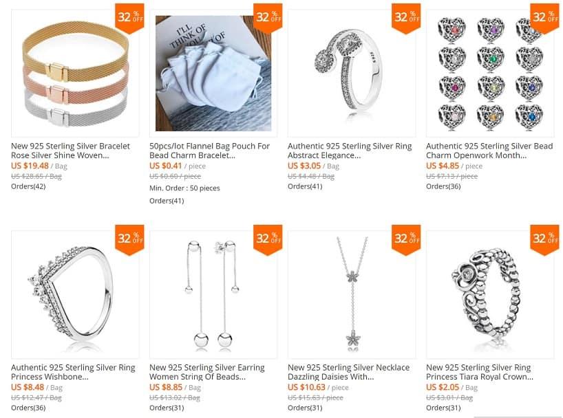 Pandora Charm Replica AliExpress Pendant Pandora Inspired Jewelry Waroom Silver Store 2