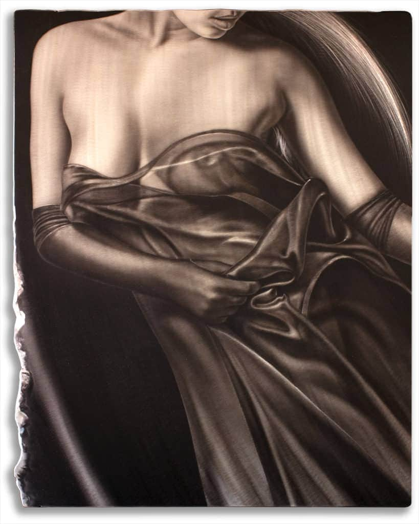 INFINITY figurative painting on metal by A.D. Cook