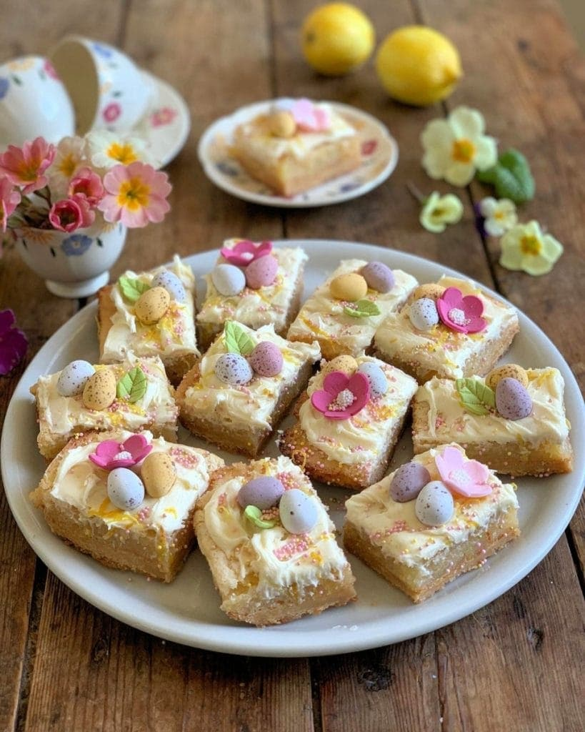 Lemon Shortbread Squares by Lavender and Lovage