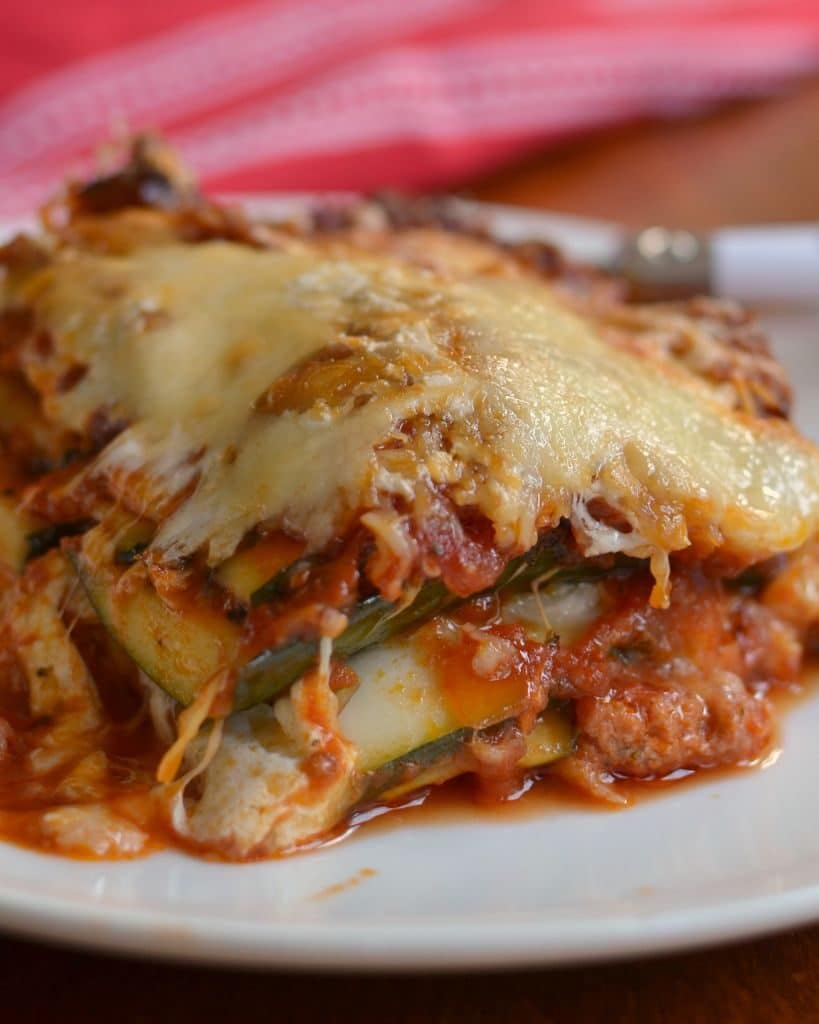 Mouthwatering Good Low Carb Zucchini Lasagna