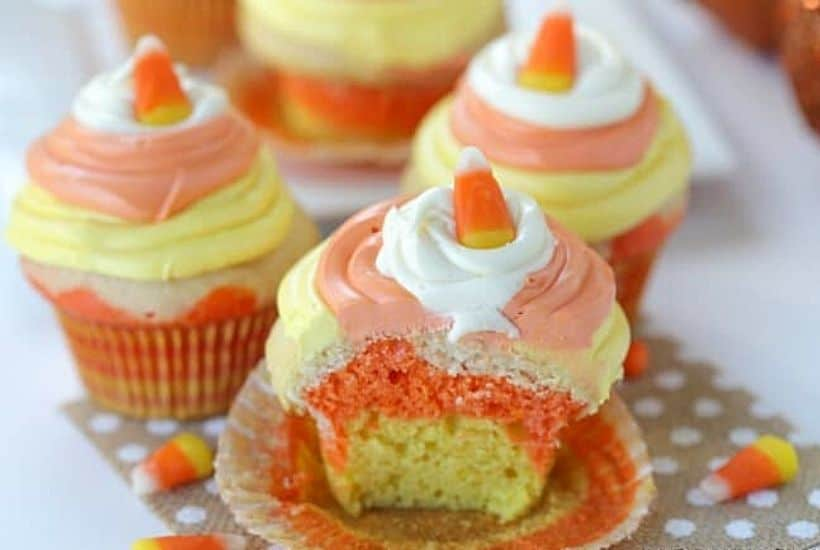 Candy Corn Cupcakes Plus 30 Cute Halloween Treats