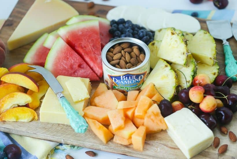 Easy Summer Fruit And Cheese Board