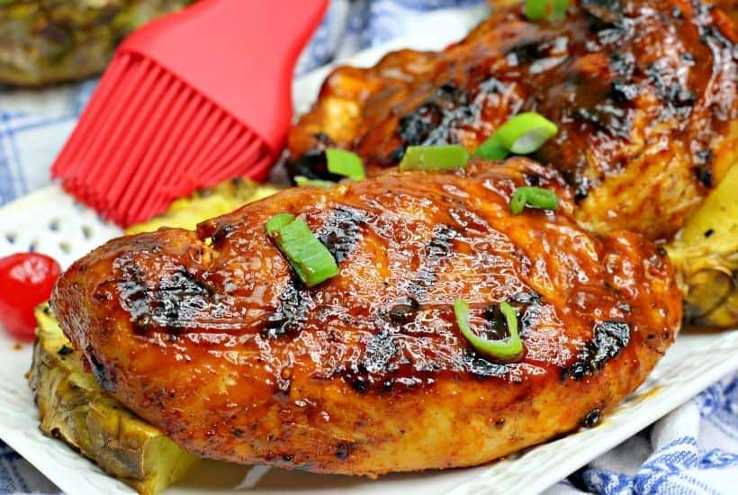 This flavorful Grilled Huli Huli Chicken recipe is delicious and simple. This Hawaiian-inspired chicken recipe is marinated and grilled to perfection.
