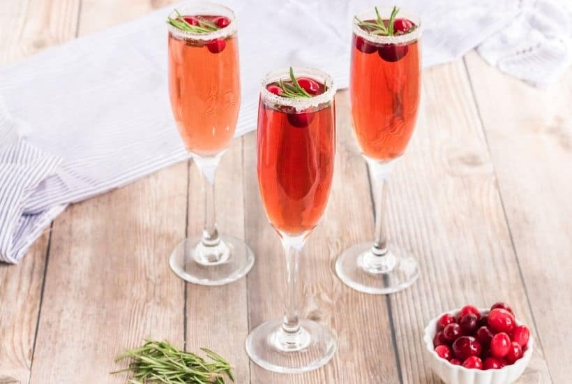 Refreshing Cranberry Mimosa