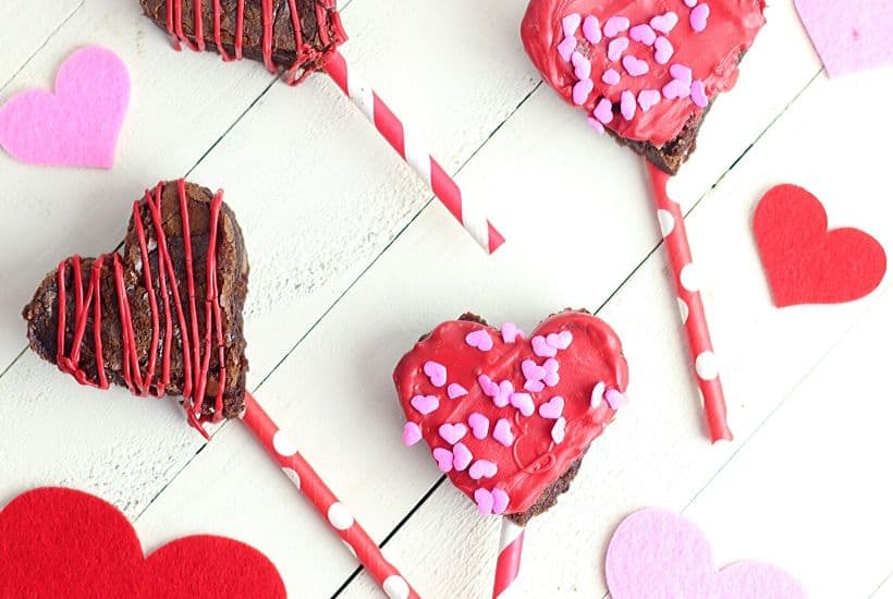 Valentine Brownie Pops