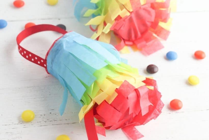 DIY Toilet Paper Roll Pinatas For Cinco de Mayo