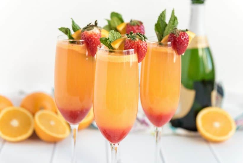 Farm Fresh Strawberry Mimosas