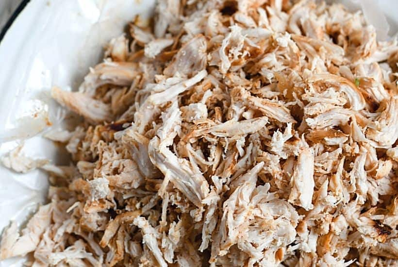 Looking for an easy weeknight meal? These Shredded BBQ Chicken Sandwiches are a delicious solution. Your family will love these barbecue chicken sandwiches. This easy sandwich recipe is great to serve at a party, football tailgate or game day celebration.