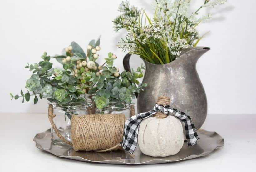 Make Your Own Farmhouse Style Fabric Pumpkins