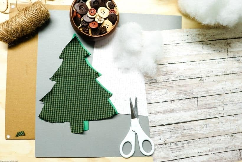 Add a rustic touch to your DIY Christmas decor. This no-sew Farmhouse style Blessed Christmas Tree Sign is an easy Cricut craft.