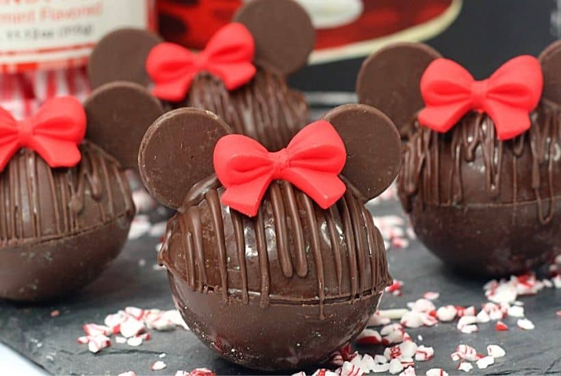 Minnie Mouse Hot Chocolate Bombs feature