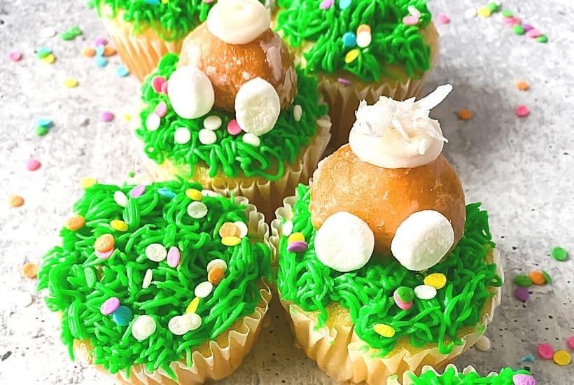 Easy Bunny Butt Cupcakes