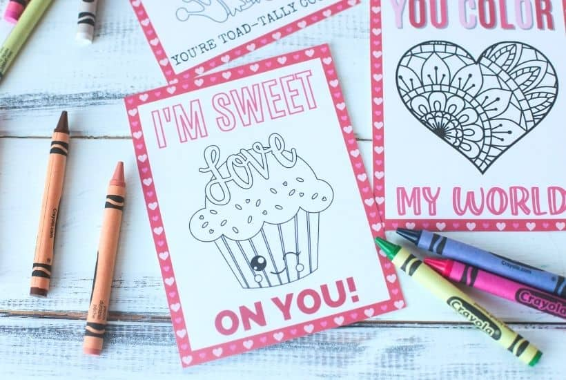 Printable Kid's Valentines To Color 1
