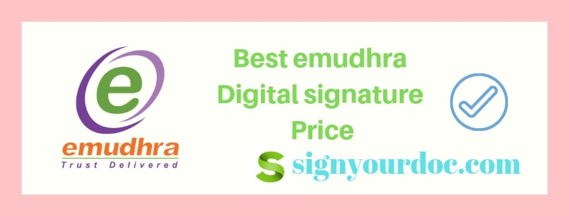 emudhra Digital signature price