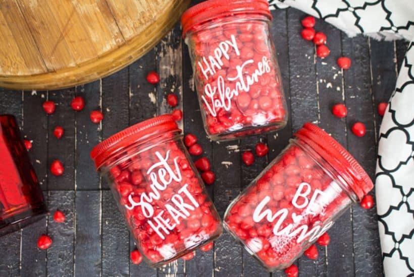Valentine Mason Jar Cricut Valentine Craft