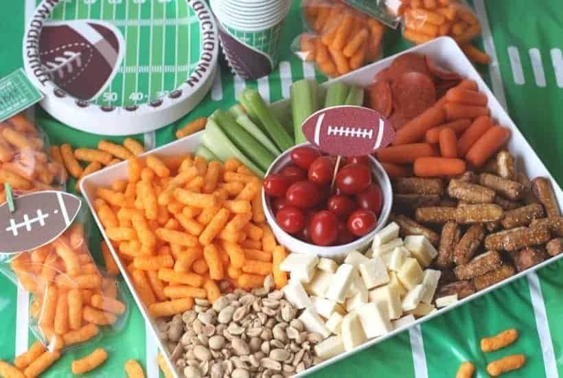 Score big at your game day party with this easy Football Party Snack Tray. This party snack idea will have your guest cheering for more!