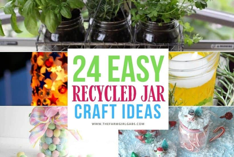 Easy Recycled Glass Jar Projects