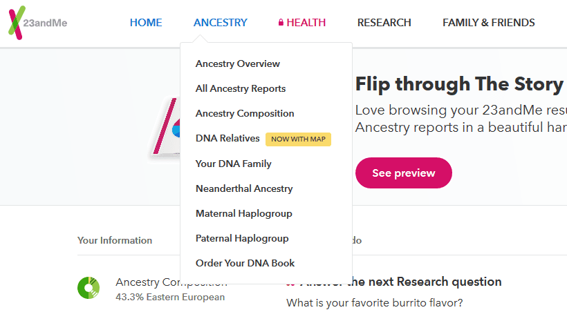 how to navigate 23andme results