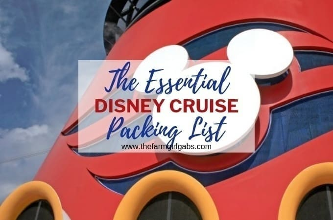 Before you set sail on a Disney Cruise, download this free printable Essential Disney Cruise Packing List. #DisneyCruise #WaltDisneyWorld #CruisePackingList #FamilyTravel #PackingTips