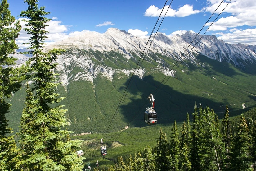 The Banff Gondola on Sulfur Mountain, an absolute must on your Banff itinerary for 3 days