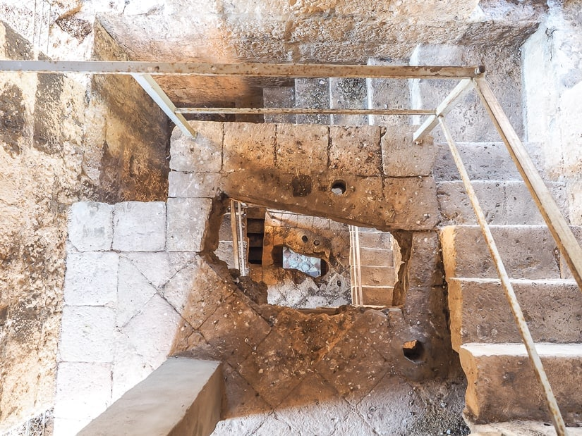 Interior staircase of the Bell Tower in Perast