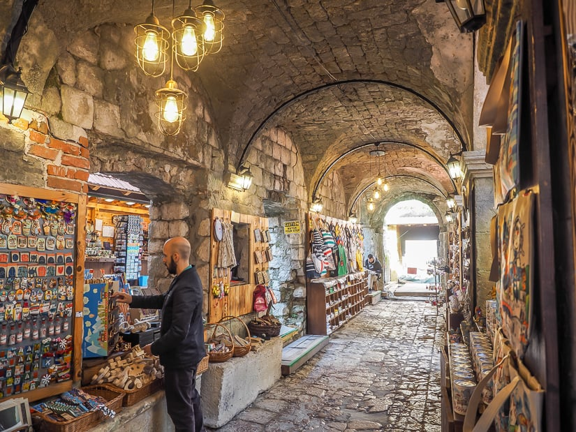 Kotor Bazaar, one of the best places to buy souvenirs in Kotor