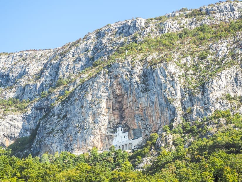 View of Ostrog Monastery, which is possible to do as a day trip from Kotor