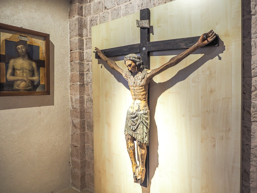 Jesus on the cross artwork, Sacral Arts Museum, Cathedral of St. Tryphon (Kotor Cathedral Treasury)