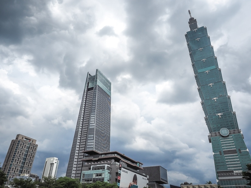 Heavy clouds in Taipei in winter; it's important to consider the weather when deciding when to visit Taiwan